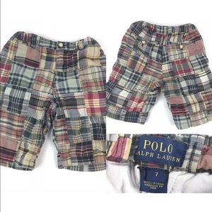 Polo Ralph Lauren Kids Boy Plaid Patchwork Shorts